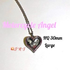 Jewelry - Motorcycle Angel Themed HQ Locket